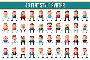 40 Flat Style Men Avatar