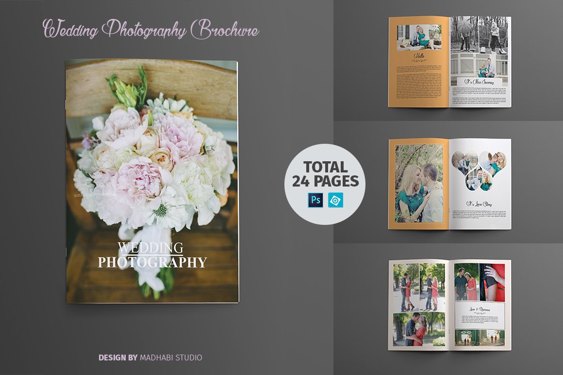Wedding photography brochure booklet brochure templates for Brochure booklet templates