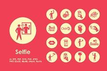 Selfie icons