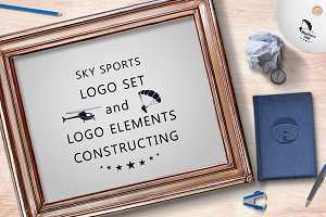 Sky sports logo set