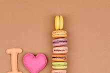 Macarons I love Eiffel Tower french