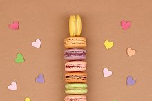 Macarons Eiffel Tower french, hearts