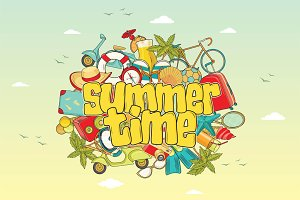 Summer time. Vector backgrounds