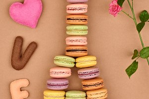 Macarons Eiffel Tower french. Love