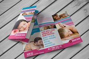 Spa & Beauty Saloon Trifold Brochure