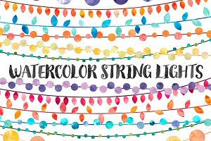 Watercolor String Lights