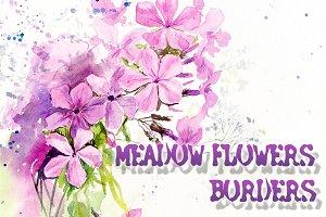 Meadow flowers borders