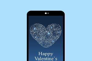 Happy Valentines day smartphone