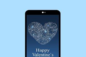 Happy Valentines day smartphone