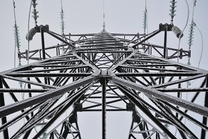 Frozen Electrical Tower Abstract Art
