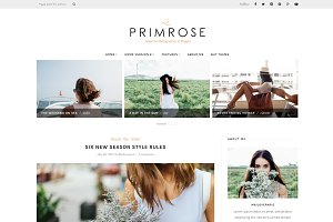 La Primrose - Wordpress blog theme