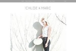 Chloe & Marc - Wordpress blog theme