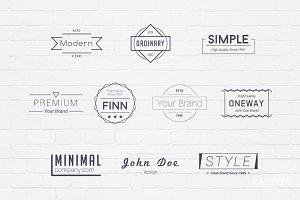 Minimal Badges Logos
