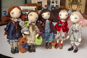 Textile Doll toys collection