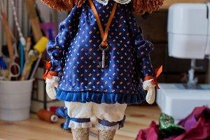 Handmade textile dolls, Set 5