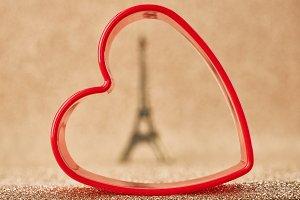 Valentines Day. Love.Eiffel Tower