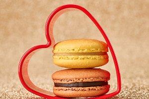 Valentines Day. Love, heart. Macaron