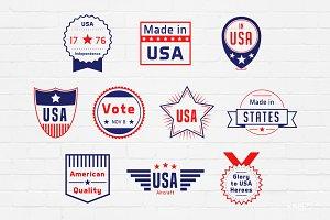 American Badges Logos