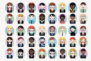 40 x Business people avatar