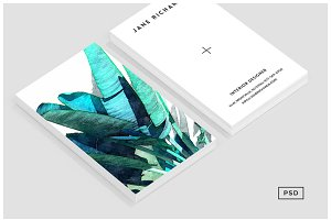 Banana Leaf Business Card Template