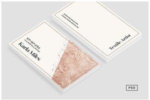 Bronze & Polka Dots Business Card