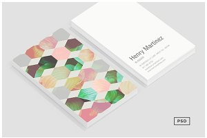 Hexagon Business Card Template