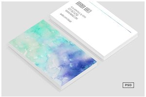 Watercolor Styled Business Card V1