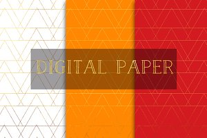 Digital papers- white, orange, red