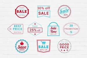 Sale Badges Logos