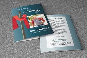 Funeral Program Template-V370