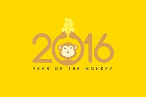 2016 Year of the Monkey greetings