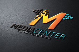 Media Center / M Letter Logo -50%off