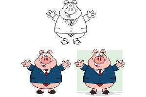 Businessman Pig Collection - 2