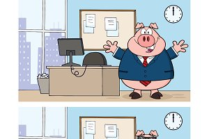 Businessman Pig Collection - 3