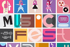 Music Festival Vector Poster