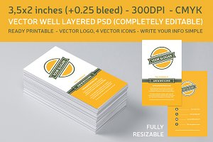 Flat Design Business Card