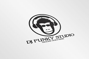 DJ Music Studio / monkey - Logo