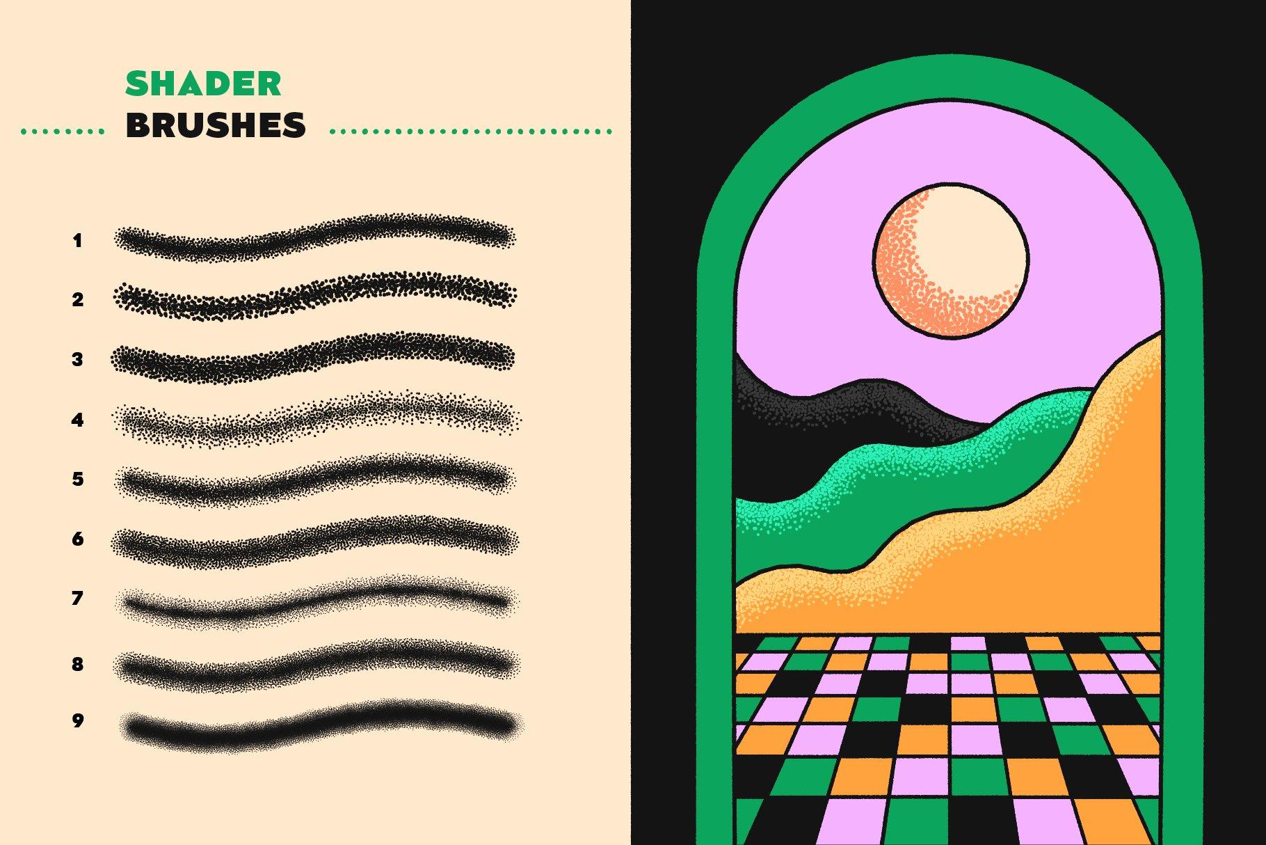 5 shader brushes 5