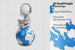 3D Small People - Global Manager