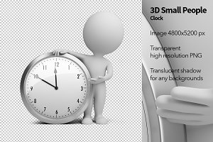 3D Small People - Clock