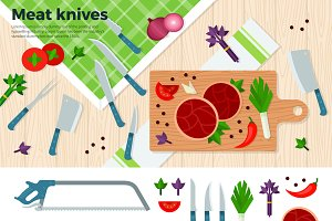 Modern Kitchen Knives for Meat