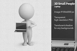 3D Small People - Laptop