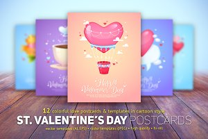 St. Valentine's Day Card Templates