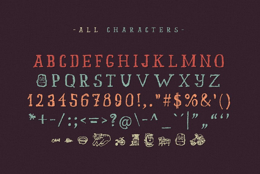 Best Old story typeface Vector