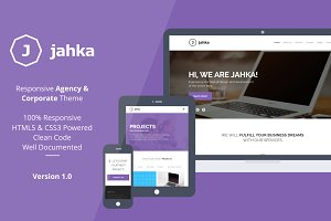 Jahka - Agency and Corporate Theme