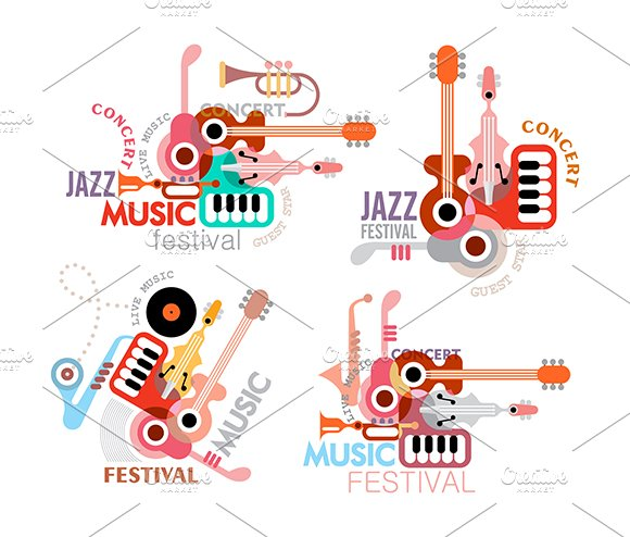 Music Festival Vector Poster in Illustrations