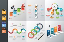 Diagrams for business infographic v5