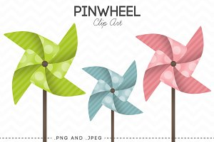 Pinwheel Clip Art Set of 12