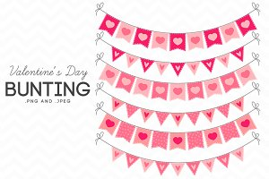 Valentine's Day Bunting Clip Art