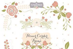 Flower corner, frame clipart